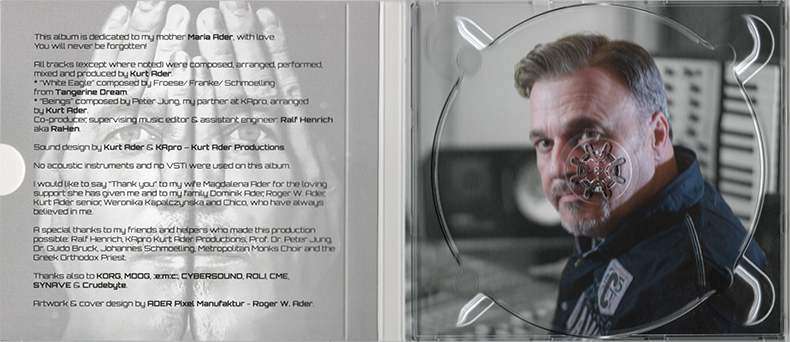 Kurt Ader PRIORITY Credits und CD-Tray