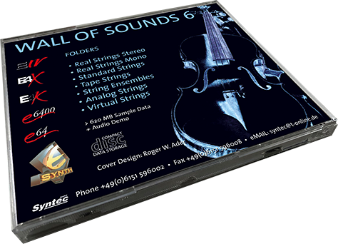 Syntec GmbH Wall Of Sounds 6 CD-Rückseite liegend