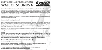 "Syntec GmbH Wall Of Sounds 6 ""Super Strings"" Booklet Seite 8"