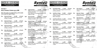 "Syntec GmbH Wall Of Sounds 6 ""Super Strings"" Booklet Seiten 2 und 3"