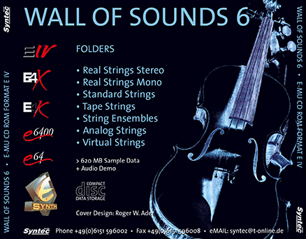Syntec GmbH Wall Of Sounds 6 CD-ROM Inlay-Card