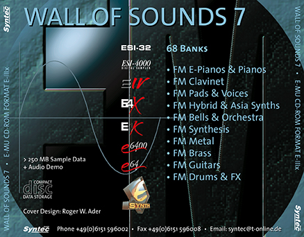 Syntec GmbH Wall Of Sounds 7 CD-ROM Inlay-Card