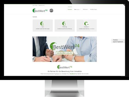 Website von BestWert24 auf iMac