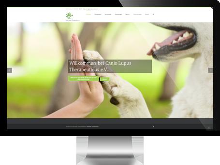 Website von CLT ev – Canis Lupus Therapeuticus auf iMac