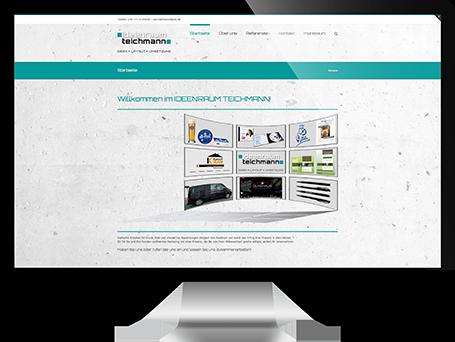 Website von ideenraum teichmann auf iMac