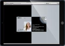 Website von Anja Reichelt Zeitgenössischer Schmuck auf iPad