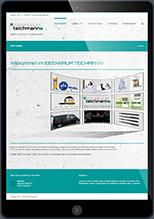 Website von ideenraum teichmann auf iPad