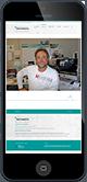 Website von ideenraum teichmann auf iPhone